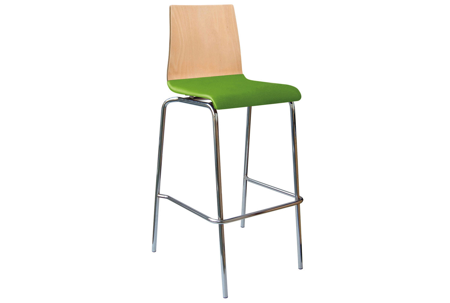 Source Beech Bistro Stool With Upholstered Seat