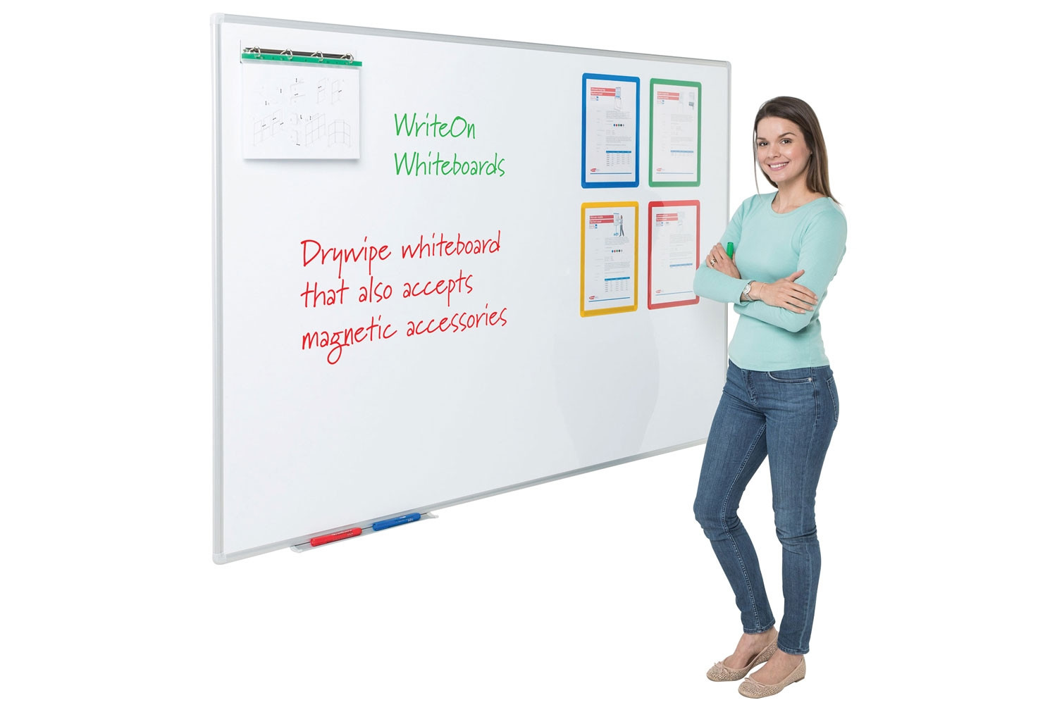 Write-On Magnetic Whiteboards