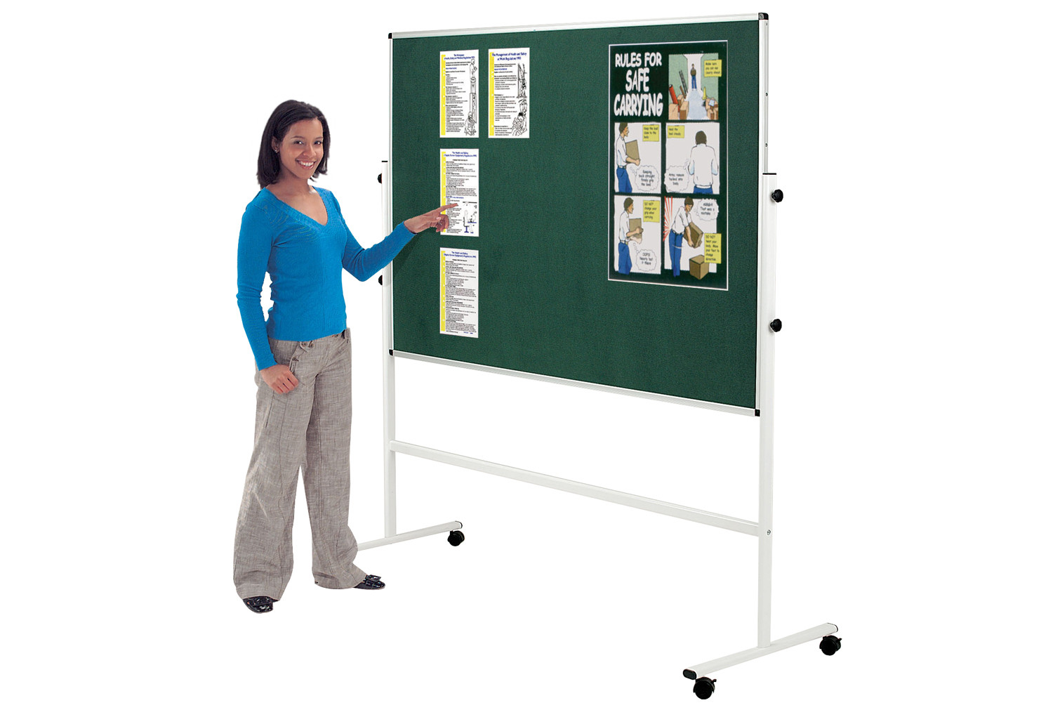 Felt Double Sided Mobile Noticeboard
