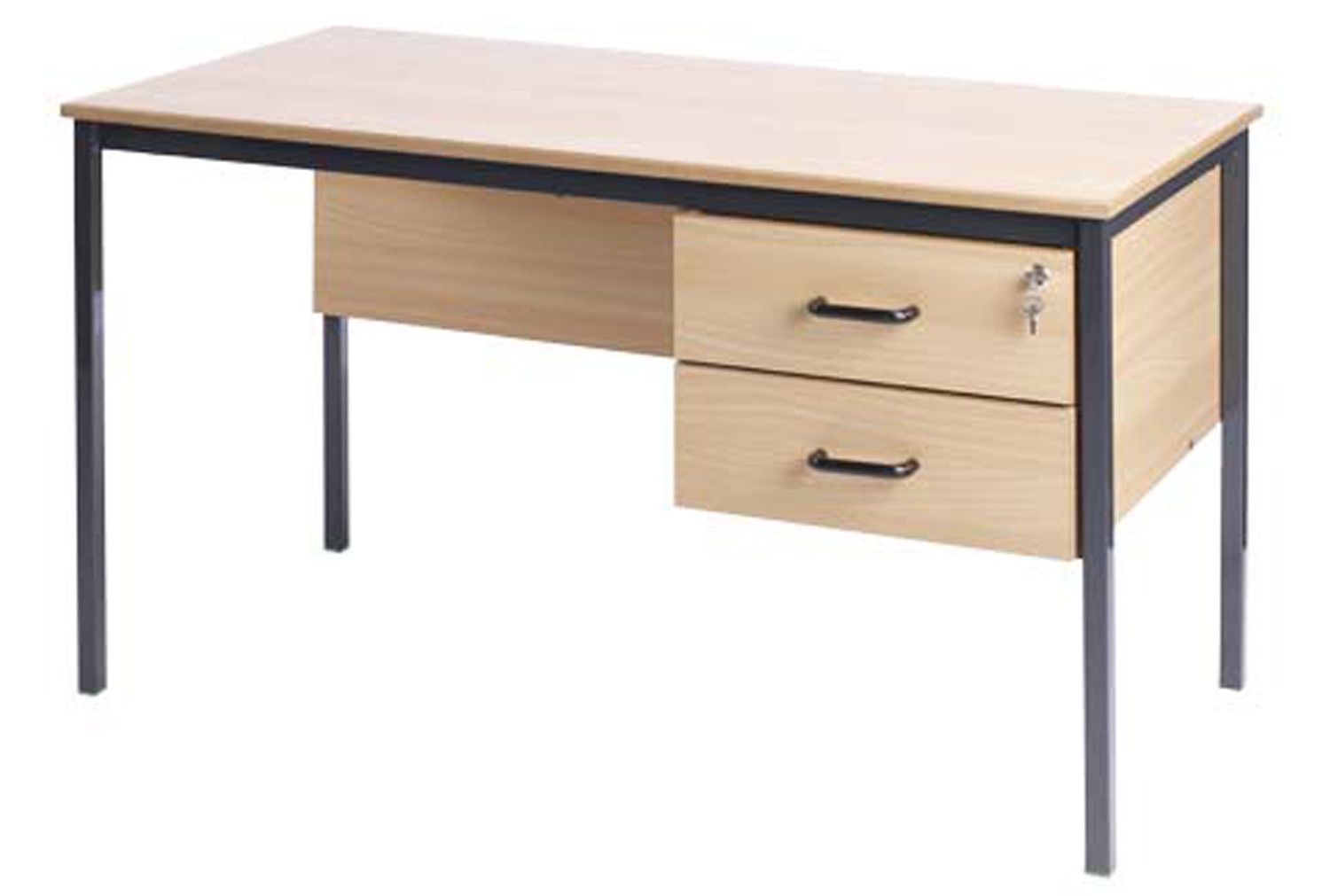 Fully Welded Teachers Desk With 2 Drawers