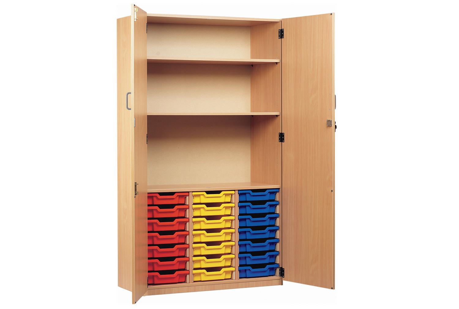 21 Tray Storage Cupboard With Full Doors