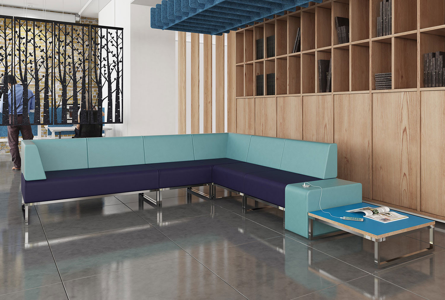 Fuse Double Bench Double Back And Left Hand Arm