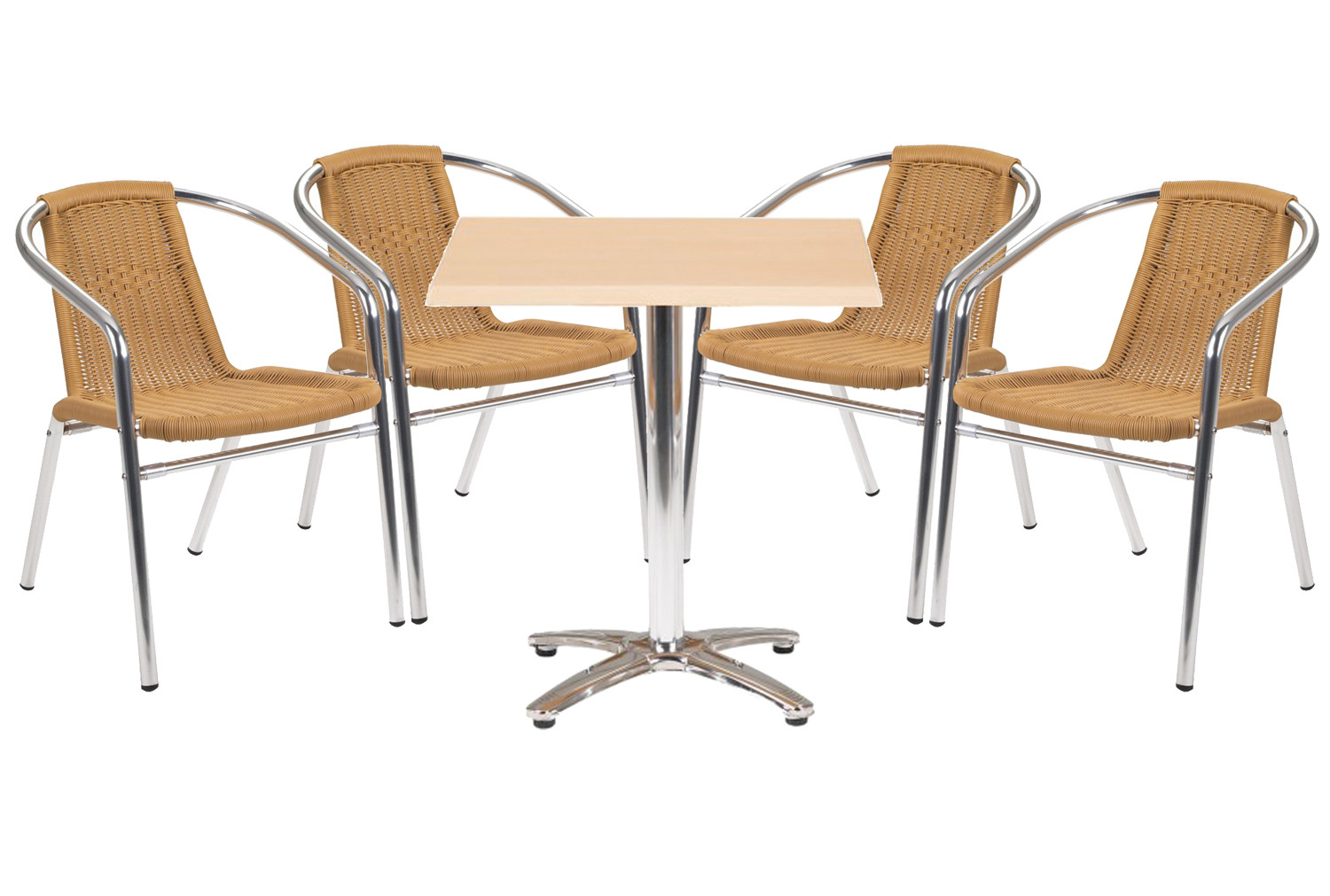 Casa Square Table And 4 Armchairs