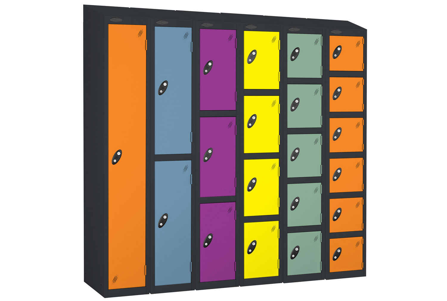 Probe Autumn Colour Lockers With Sloping Top