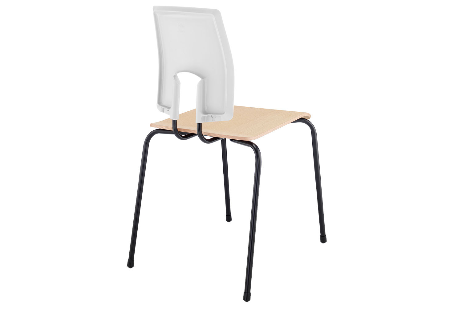 Hille SE Ergonomic Classroom Chair With Wooden Seat