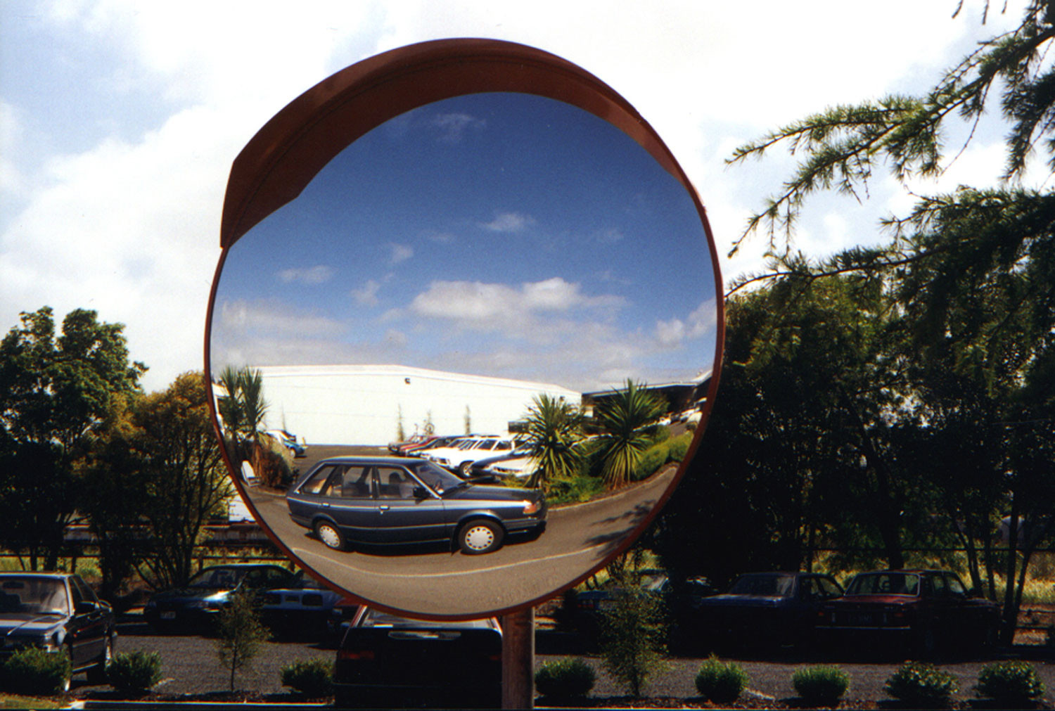 Deluxe Heavy Duty Exterior Convex Safety Mirror 1000mm Dia