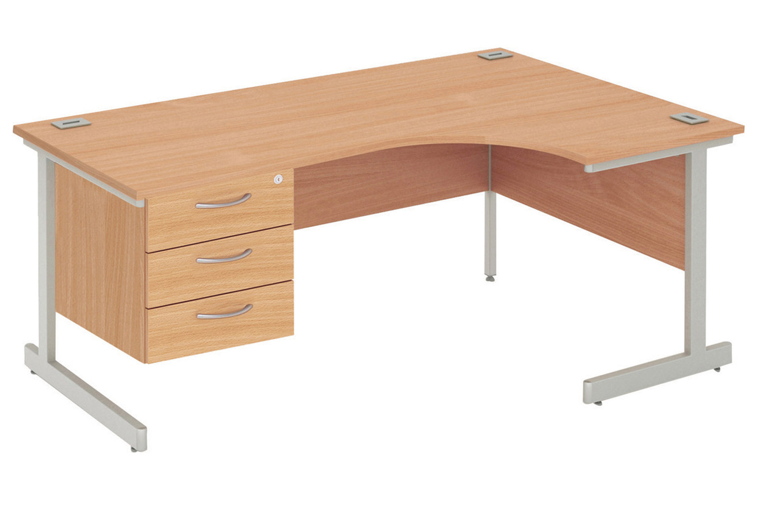 Proteus I Right Hand Ergonomic Desk With 3 Drawers