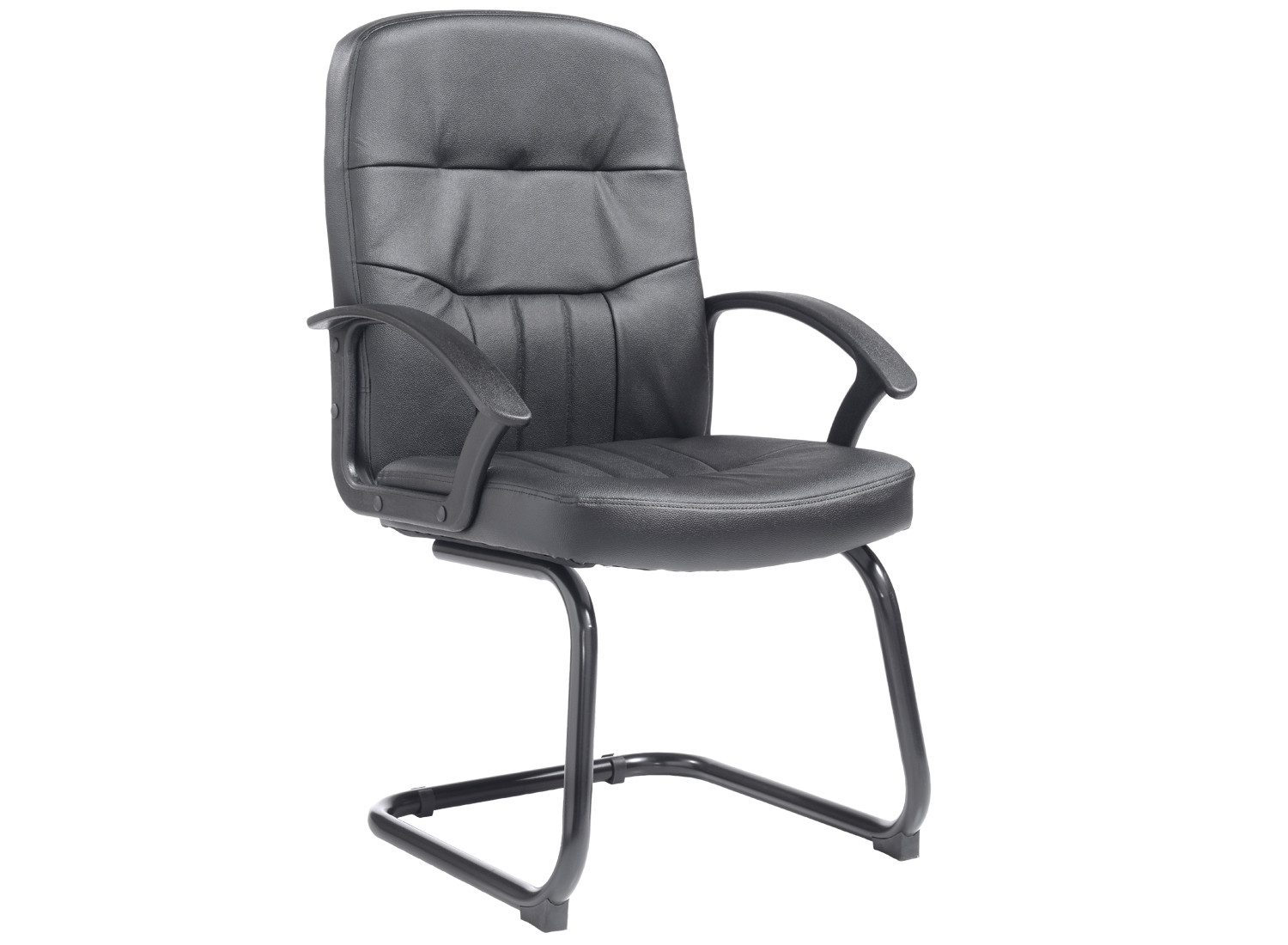 York leather faced visitor chair