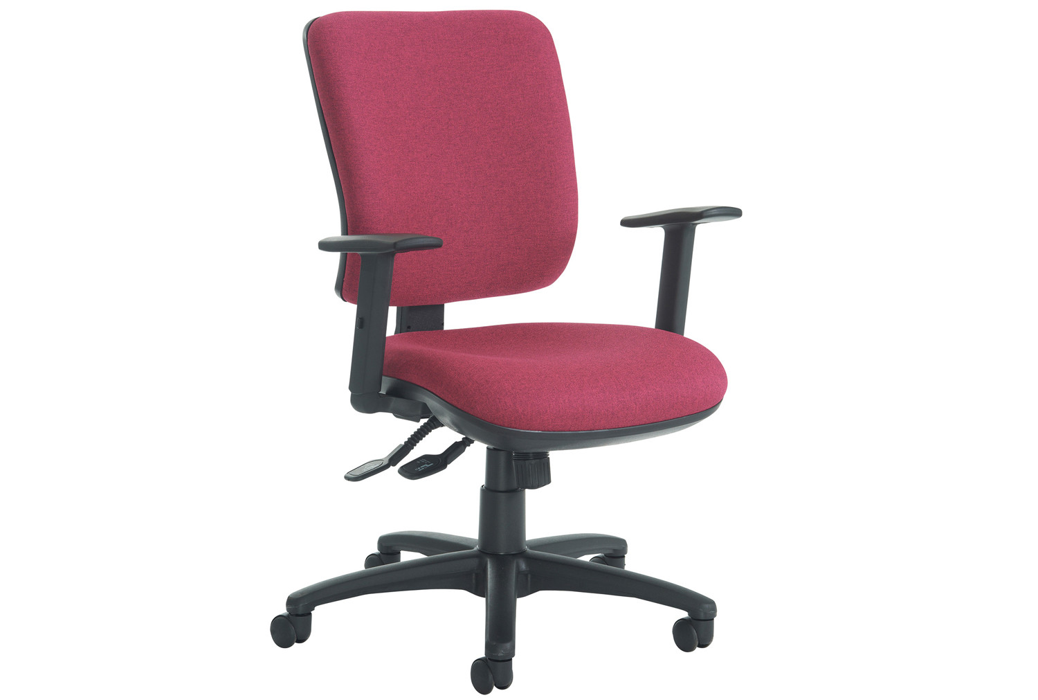polnoon high back operator chair with height adjustable arms furniture at work. Black Bedroom Furniture Sets. Home Design Ideas