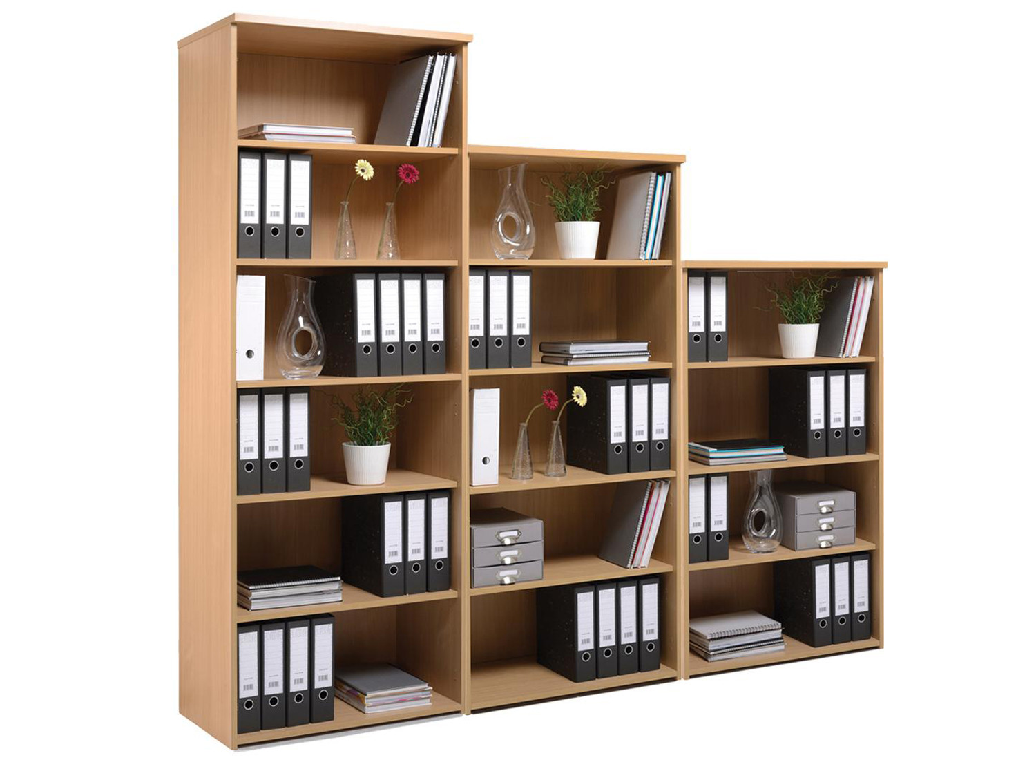 Bookcases furniture at work