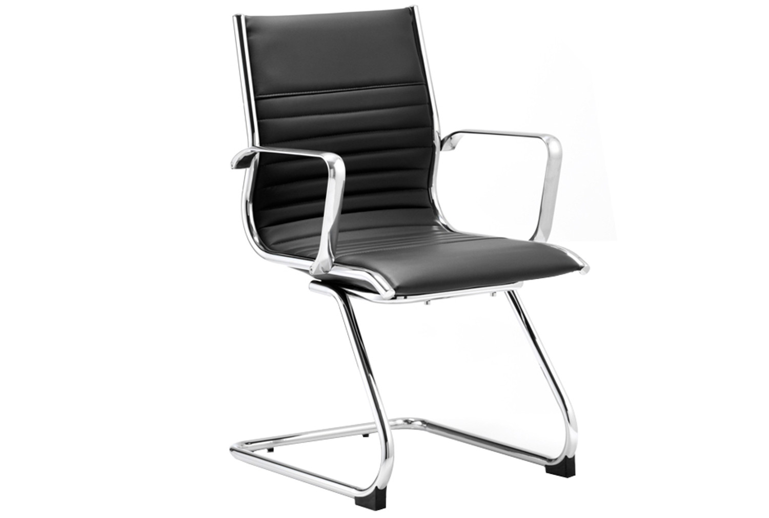 Black Barcelo Leather Faced Visitor Chair