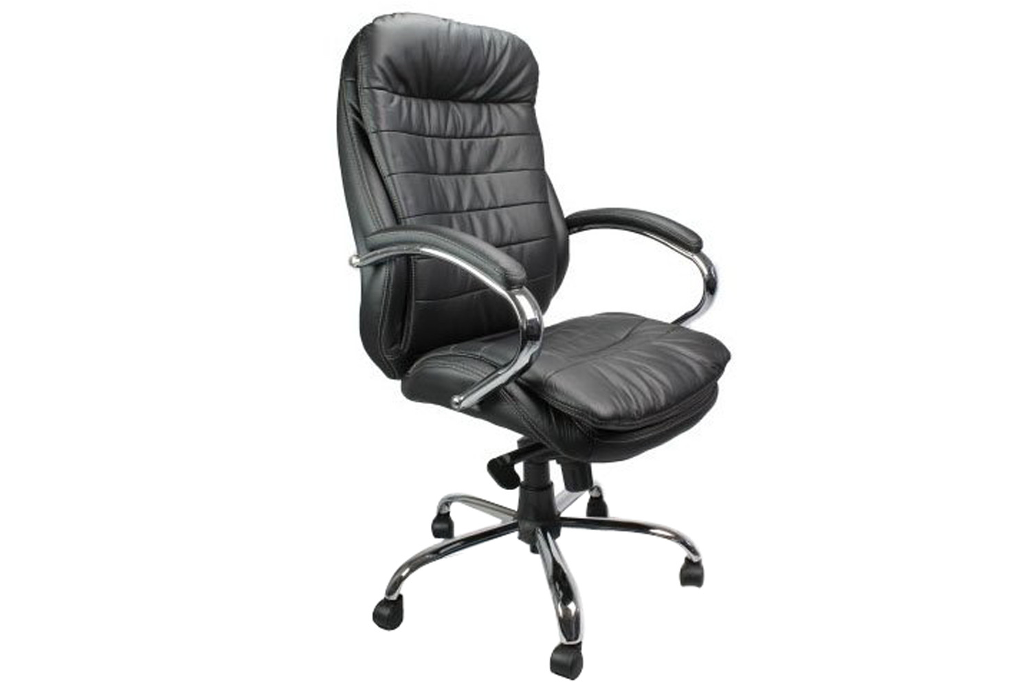 Nairn black leather faced executive chair