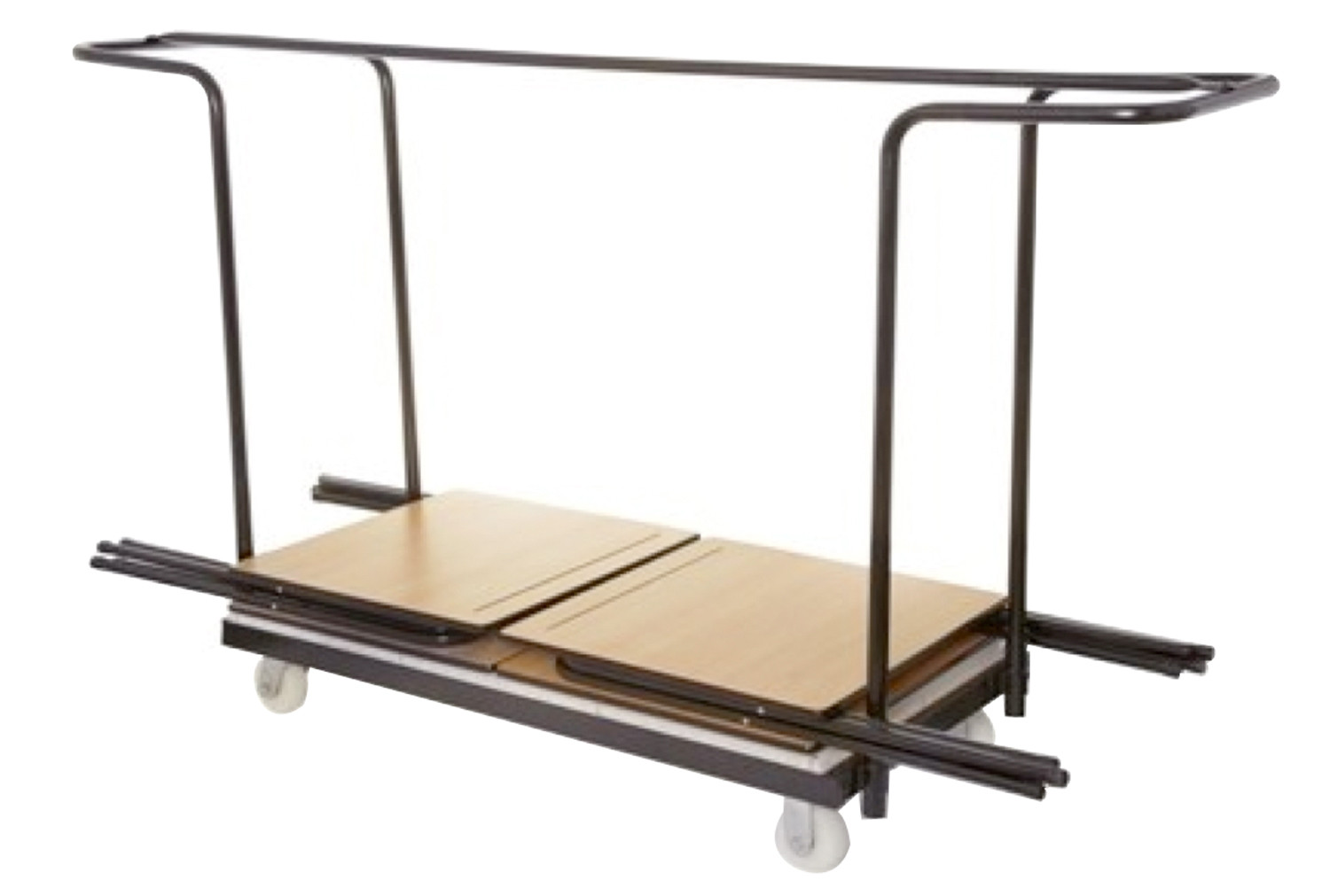 Trolley for folding exam desks (horizontal stacking)