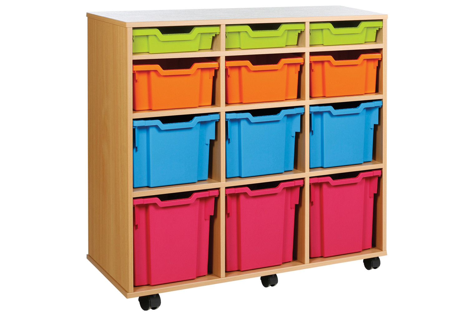 Variety Tray Storage Unit With 12 Trays