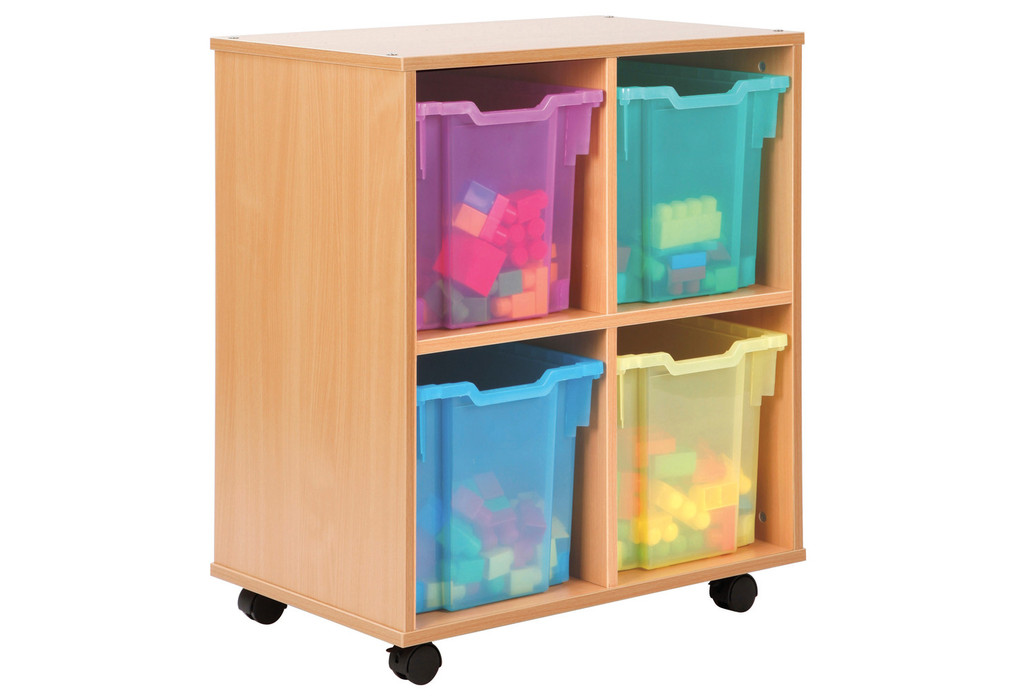 Allsorts 4 Cube Bookcase With 4 Jumbo Trays