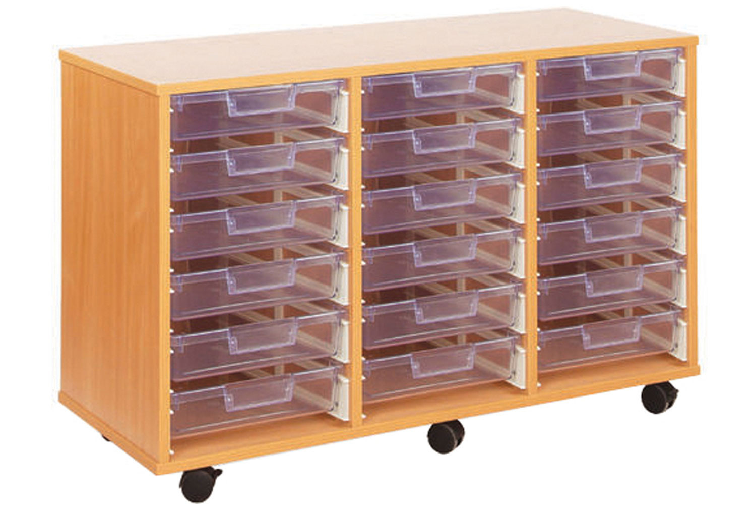 18 clear shallow tray storage unit furniture at work. Black Bedroom Furniture Sets. Home Design Ideas