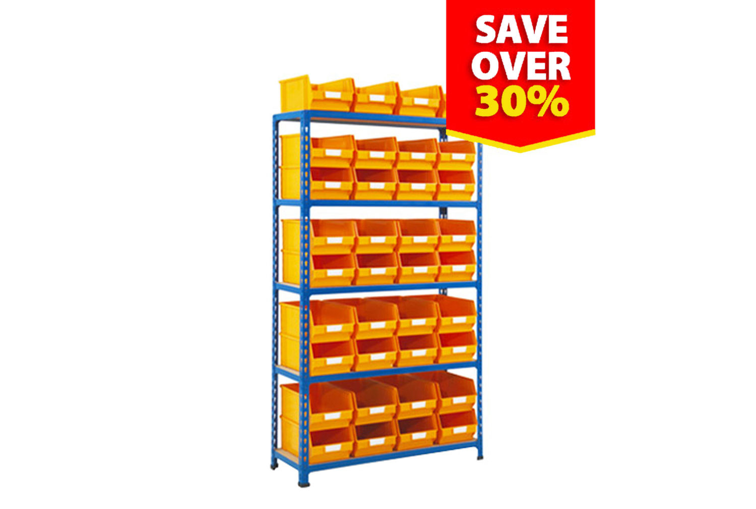 Rapid 2 shelving with 36 picking bins