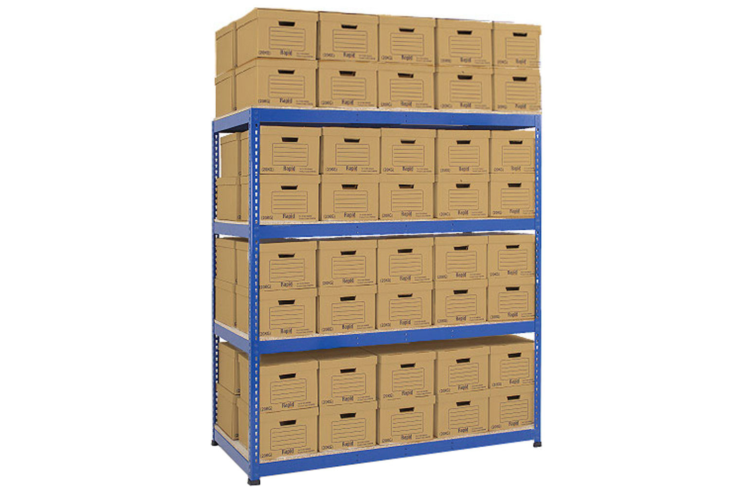 Rapid 1 double sided archive storage unit with 80 boxes