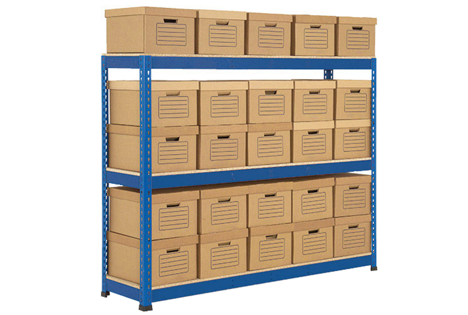 Rapid 1 single sided archive storage unit with 25 boxes