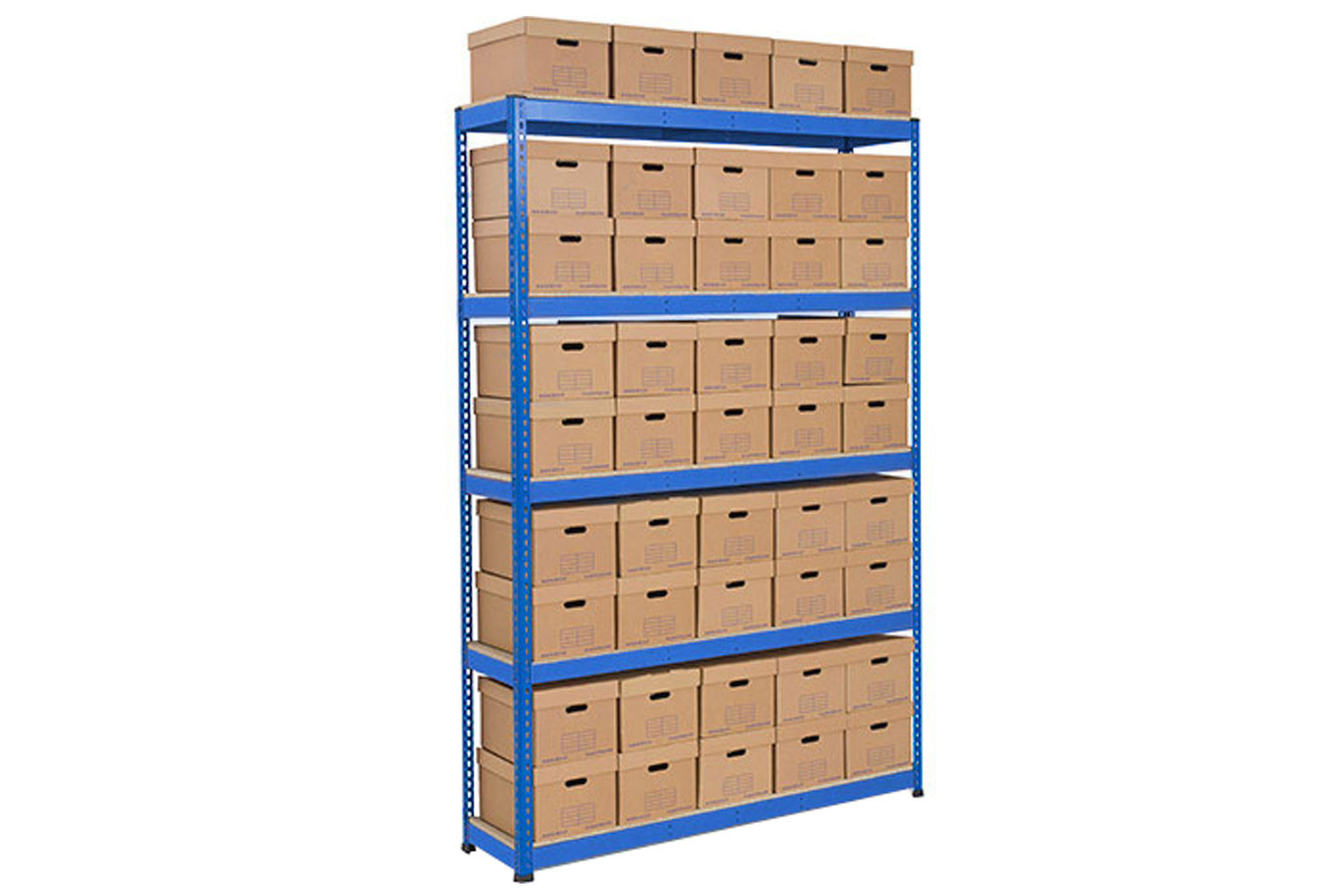 Rapid 1 single sided archive storage unit with 45 boxes