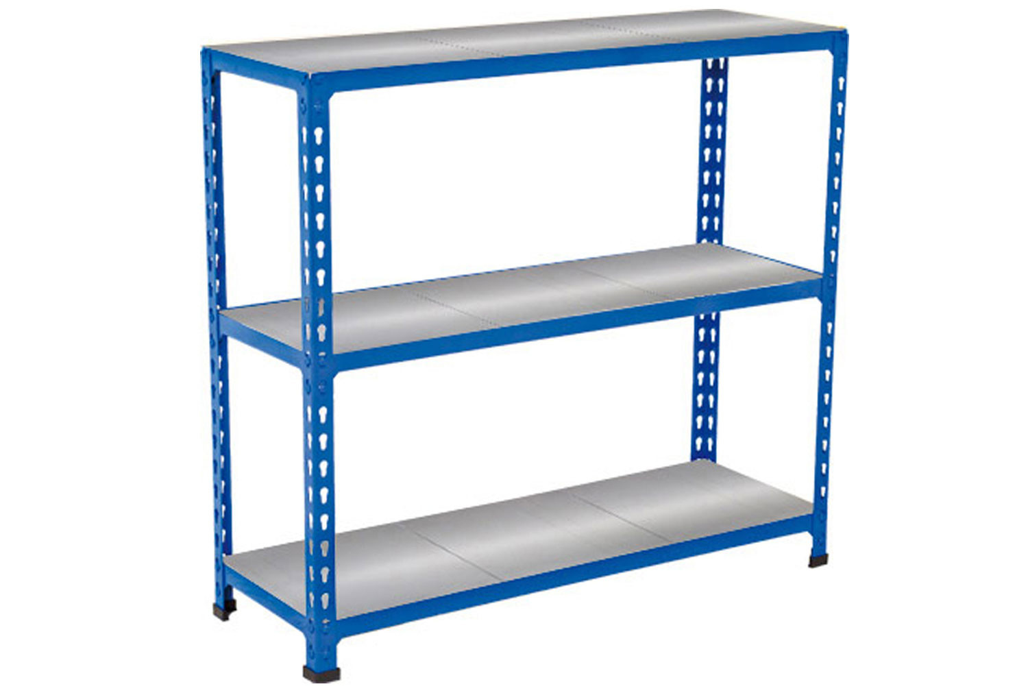 Rapid 2 shelving with 3 galvanized shelves 915wx990h (blue)