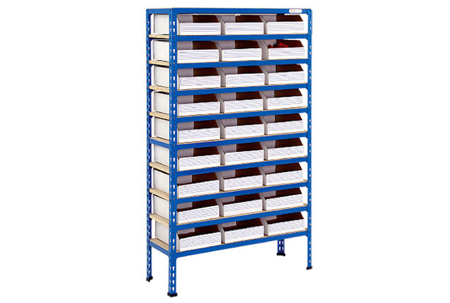 Rapid 2 shelving with 27 cardboard picking bins