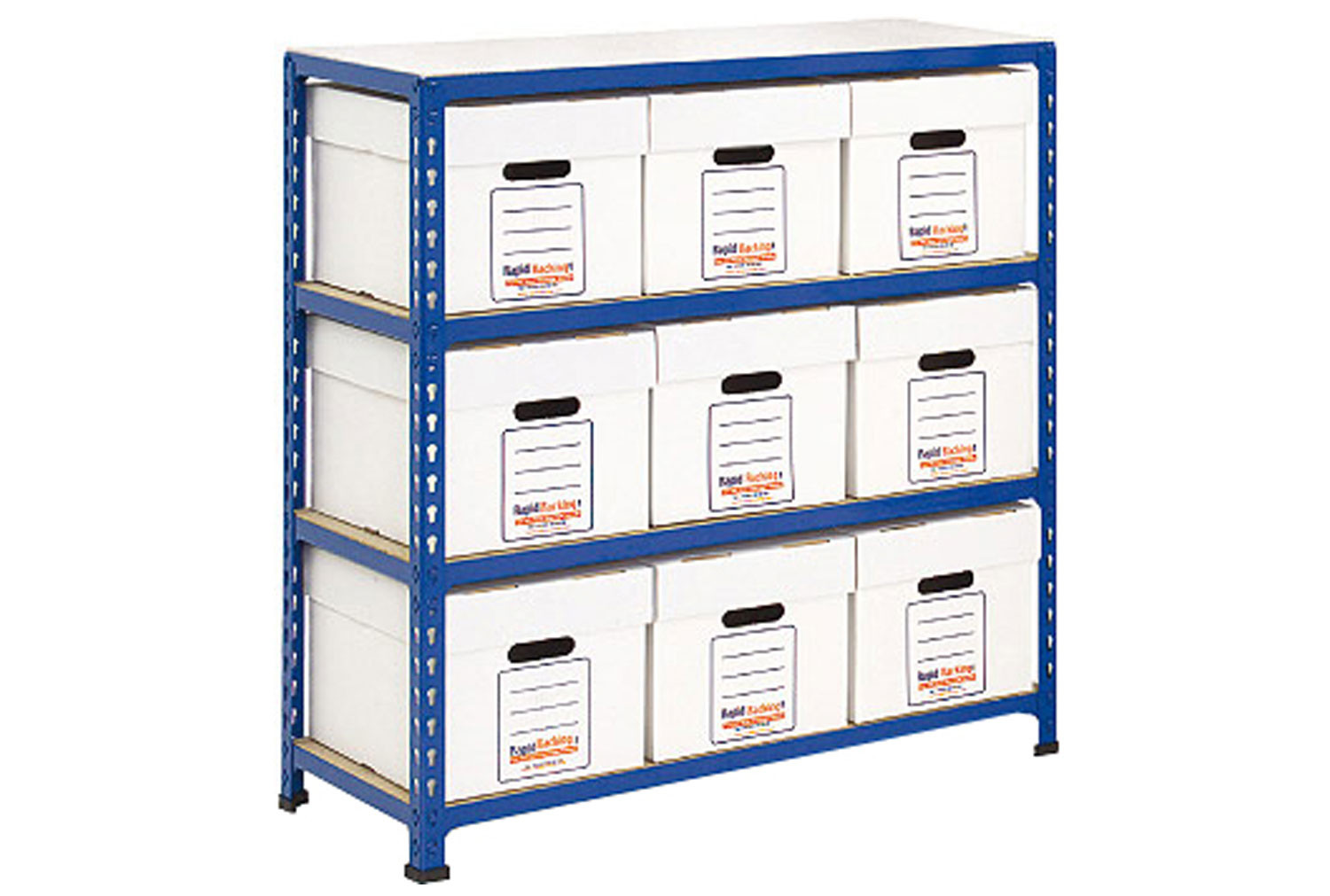 Rapid 2 economy document storage with 9 boxes