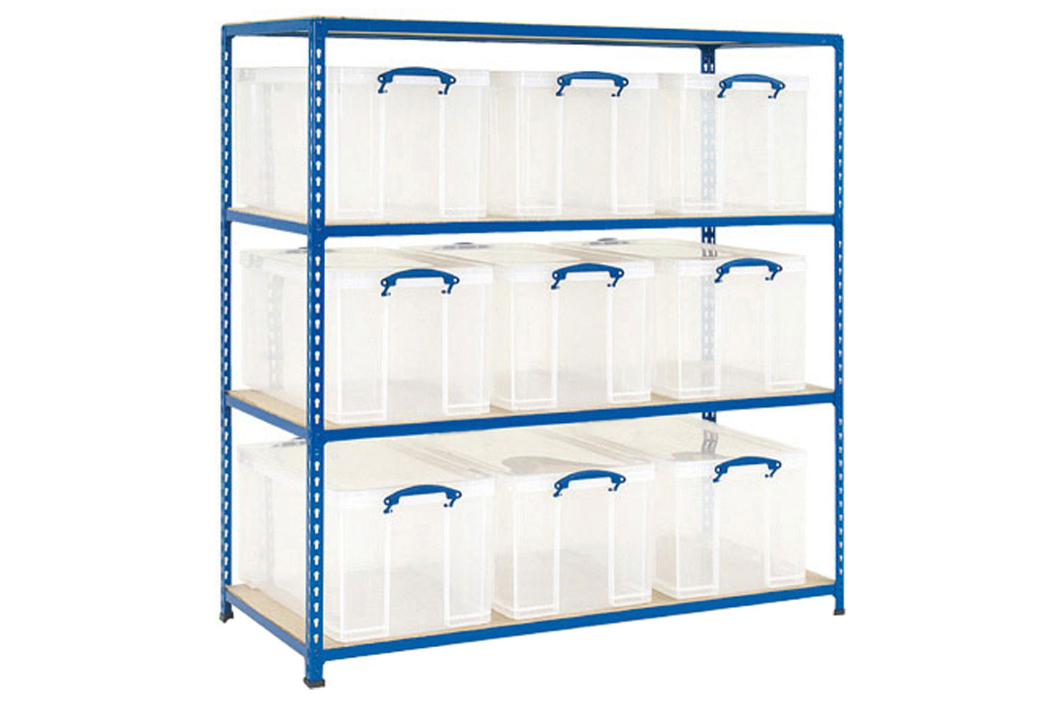 Rapid 2 storage bay with 9 x 84 litre really useful boxes