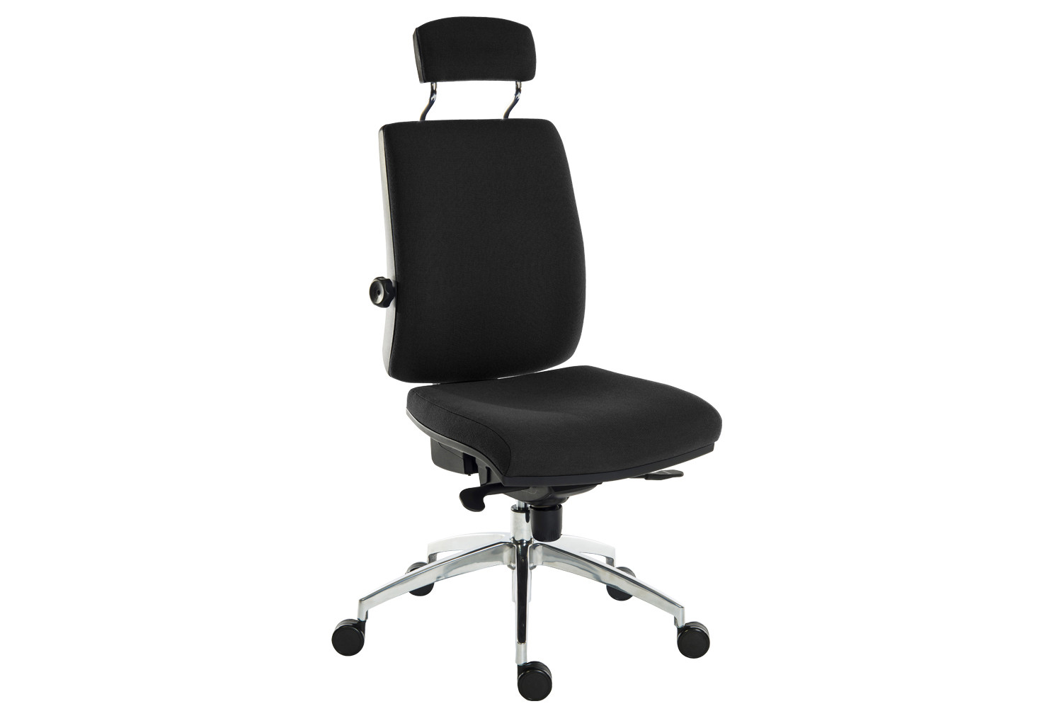 Black Baron Deluxe 24Hr Ergonomic Chair With Headrest (Fabric)