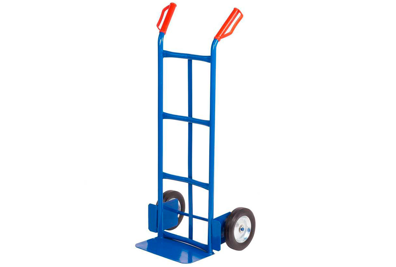 Steel sack truck with cushion wheels (150kg capacity)