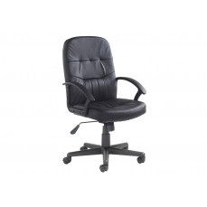 York High Back Leather Faced Executive Chair