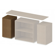 Archadius Modular Storage Single Door Cabinets (End Unit No Top)