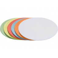 Pack Of 500 Franken Oval Training Cards (Assorted Colours)