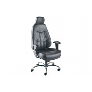 Nive High Back Leather Operator Chair With Headrest