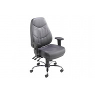 Nive High Back Leather Operator Chair