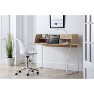 Lippman Home Office Desk and White Chair Bundle Deal