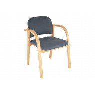 Malva Wooden Frame Reception Armchair