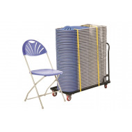 Comfort Folding Chair Bundle Deal (40 Chairs & 1 Trolley)