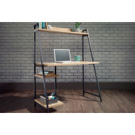 Annex Industrial Bench Desk with Shelf (Charter Oak)