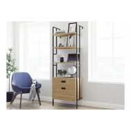 Orlando Wall Mounted 4 Shelf Bookcase With Drawers