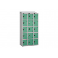 Probe Autumn Colour 5 Door Locker Nest Of 3 With Sloping Top