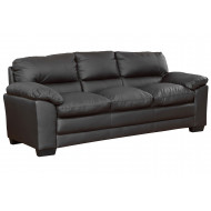 Edmund Leather 3 Seater Sofabed