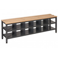 QMP Single Bench Seat With Shoe Storage