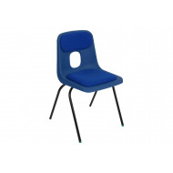 Hille E series chair with upholstered seat and back