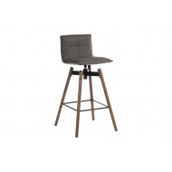 Sutton Fabric Bar Stool with Dark Wood Legs