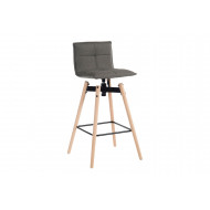 Sutton Fabric Bar Stool with Light Wood Legs