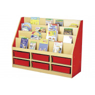 Milan Tiered Bookcase With 6 Trays