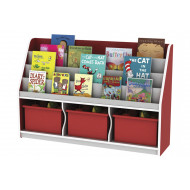 Thrifty 3 Compartment Book Storage With 3 Trays