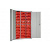 Elite High Capacity Storage Cupboard With 51 Shallow Trays