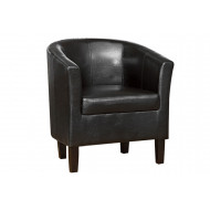 Duan Faux Leather Tub Chair